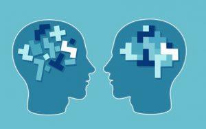 Schemazeichnung, die veranschaulicht, dass Erinnerungen durch die Behandlung anders abgespeichert werden können.