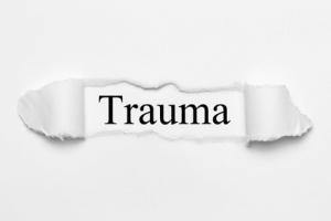 Schriftzug Trauma